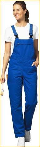 Damen Latzhose blau - Größe 38