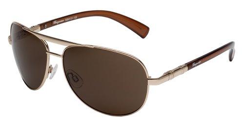 Klassische Marken Sonnenbrille für Herren von Burgmeister mit 100% UV Schutz | Sonnenbrille mit stabiler Metallfassung, hochwertigem Brillenetui, Brillenbeutel und 2 Jahren Garantie | SBM131-122
