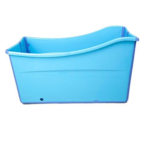 WENJUN Folding Badewanne Große Kinder Badewanne Erwachsene Folding Warmer Badewanne Baby Sit Badewanne Schwimmen Badewanne Baby Badewanne ( Farbe : Blau , größe : 98*50*56 cm )
