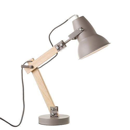 Lámpara Flexo Madera Gris diseño Moderna salón