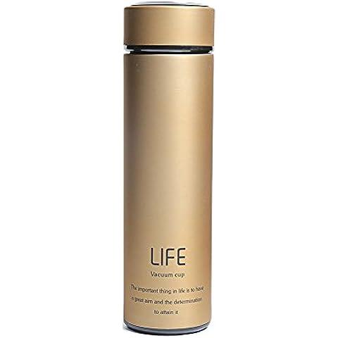 Thermos Bottiglia d' acqua–Ultimate acciaio inossidabile bottiglie termico––Tazza da caffè a doppia parete tazza da viaggio–12ore freddo & 12Caldo–500ml, Metal