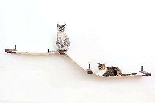 Catastrophicreations grande tessuto raceway–amaca lettino–albero scaffalatura a parete artigianale: gatto