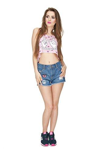 Filles veste d'été pour femme Haut Teenage Party pour Femme Coussin sans manches pour homme fashion Multicolore - WHATEVER FOREVER
