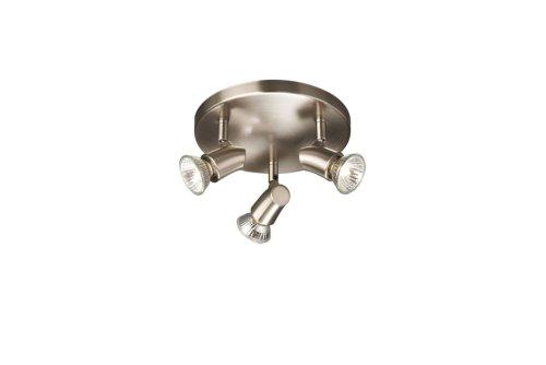 Massive Kinja Plafonnier à 3 lampes spirales chrome mat 3 ampoules GU10 50W incluses