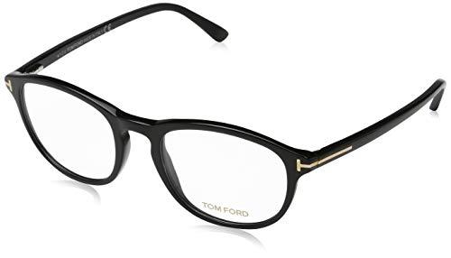 Tom Ford Unisex-Erwachsene Brille Ft5427 001 52 Brillengestelle, Schwarz,