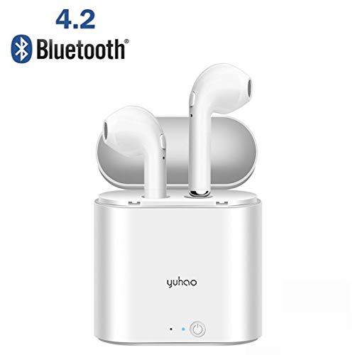 Auriculares Bluetooth inalámbrico 4.2 cancelación de ruido micrófono manos libres estéreo caja de la estación de carga deporte coche audio libro iOS Android Teléfono móvil Auriculares