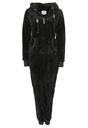 EIGHT2NINE Damen Jumpsuit aus kuscheligem Teddy Fleece | Overall | Ganzkörperanzug mit Ohren