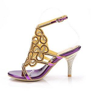 LGK&FA High Heel Sandalen Und Sandaletten High Heel High Heel High Heel Lila (Ferse) - Wrestling Schönes Schuhe