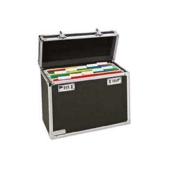 Leitz Lockable Personal Mobile Filing Case, A4, 15 File Capacity, Colour: Black/Chrome, 67160095