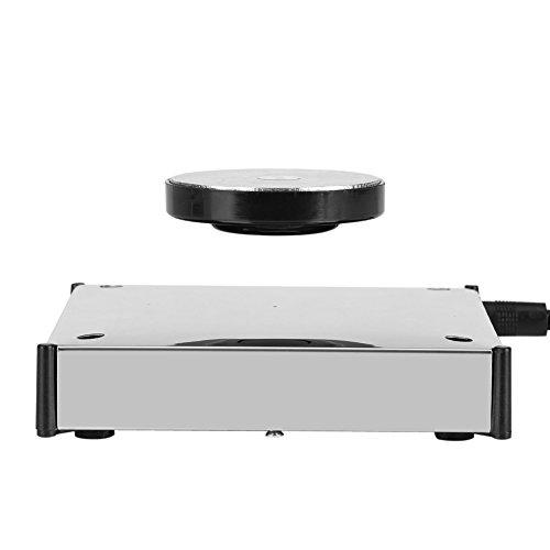 Fdit Plataforma Magnética de levitación Tenedor Flotante Giratorio de Plataforma de Pantalla LED de Levitación 360 °para Decoración de Oficina Hogar(EU)