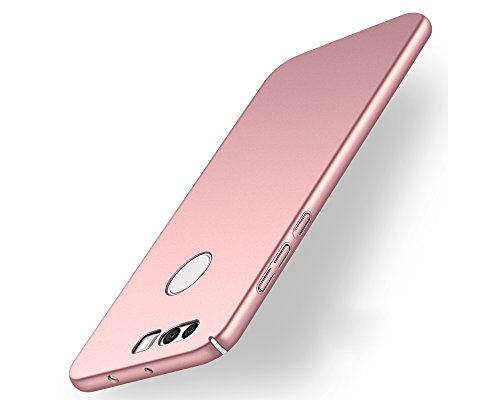 EIISSION Case Kompatibel mit Huawei Honor 8 Hülle, Hardcase Ultra Dünn Huawei Honor 8 Schutzhülle aus Hart-PC Case Cover Handyhülle für Huawei Honor 8 (Rose Gold)