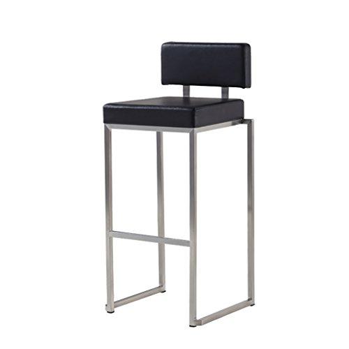 Qiansejiyijiajudengzi Stuhl Barhocker Edelstahl Einfache Familie Bar Hochstuhl Front Desk Chair Coffee Chair (Outdoor Edelstahl Barhocker)