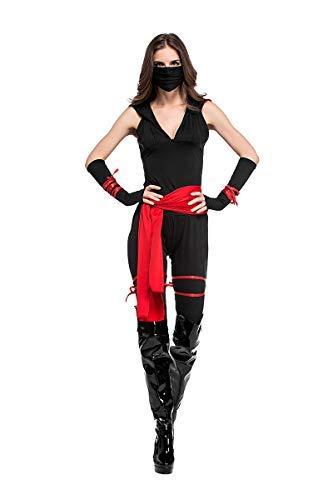 Ninja Frauen Kostüm Krieger - Fanessy. Ninja Kostüm Krieger Jungen Kostüm Damen Sexy Samurai Kostüm Kämpferin Kostüm Eltern-Kind Familien Kostüm Kinder Erwachsene Verkleidung Cosplay Outfits für Fasching Halloween Karneval Party