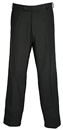 Durable Press Mens Easy Care Trousers Charcoal Grey 30W x Long