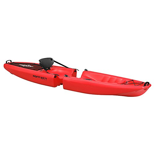 Point65°N Falcon Solo Kayak Rigide modulable (séparable) Adulte Unisexe, Rouge, (1 Place)