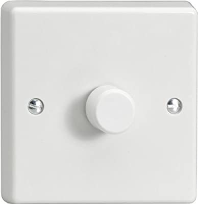 Varilight JQP401W V-Pro 1 Gang 2-Way LED Trailing Edge Dimmer Switch, White [Energy Class A+] by Mr Beams