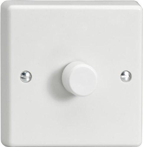 Preisvergleich Produktbild Varilight LED-Dimmschalter, V-Pro Serie, 1-Gang (Einzel), 1- oder 2-Wege, 400W (Phasenabschnitt)
