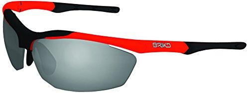 Briko Trident Sonnenbrille, Orange/Schwarz, Einheitsgröße