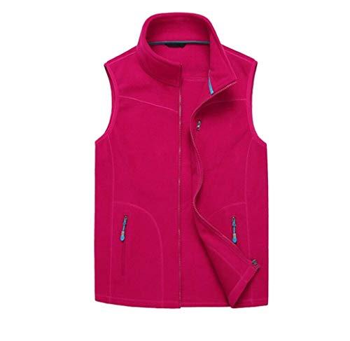 Comcrib Damen Fleece Weste Warme Weste Atmungsaktive Outdoor Sport Weste Durchgehender Rei