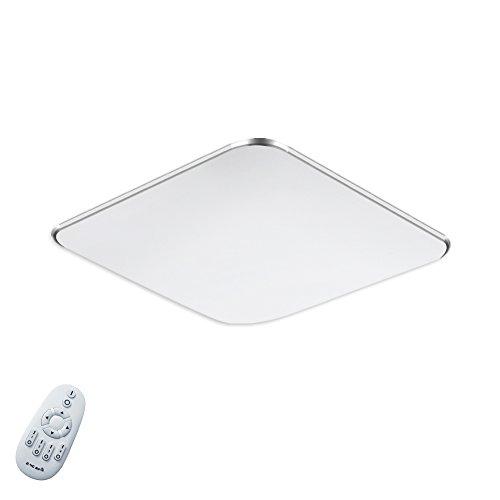 SAILUN 18W Dimmbar Ultraslim LED Deckenleuchte Modern Deckenlampe Flur Wohnzimmer Lampe Schlafzimmer Küche Energie Sparen Licht Wandleuchte Farbe Silber (18W Silber Dimmbar)