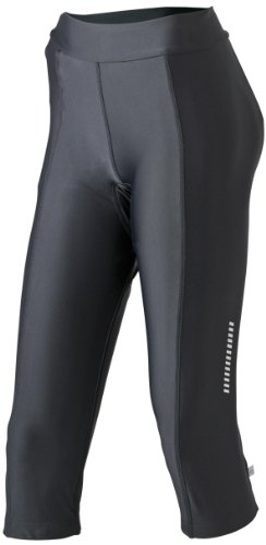 &james nicholson collants 3/4 pour femme bike Noir (black)
