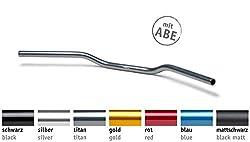LSL Aluminium Superbike Flat Lenker Flach, Typ AN1, Gold