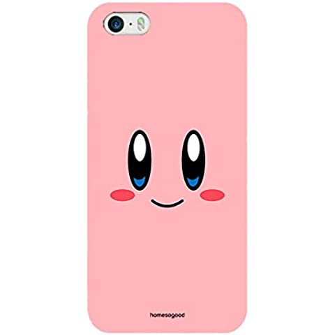 Homesogood Happy Kirby Face Multicolor Case For iPhone 5 / 5S (Back Cover)
