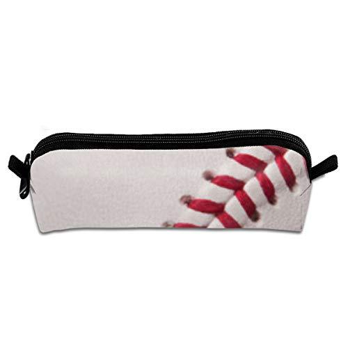 r Baseball-Hintergrund, Studenten, Leinen, Federmäppchen, Stifteetui, Stifttasche, Kosmetiktasche, 21 x 5,5 x 5 cm ()