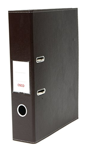 osco-faux-leather-lever-arch-file-brown