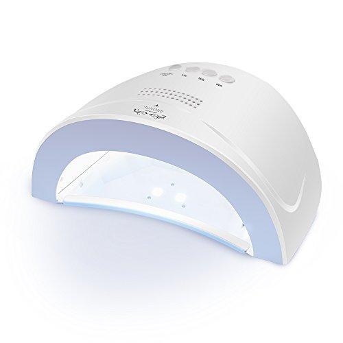 #LONGKO 48W 24W Dual-Licht UV/LED Lichthärtungsgerät Nageltrockner für Gel und Gellack UV-Gerät LED-GerätUV-Lampe LED-Lampe Fingernägel Zehennägel Schnelle Trocknung mit Timer und Lüfter weiß#