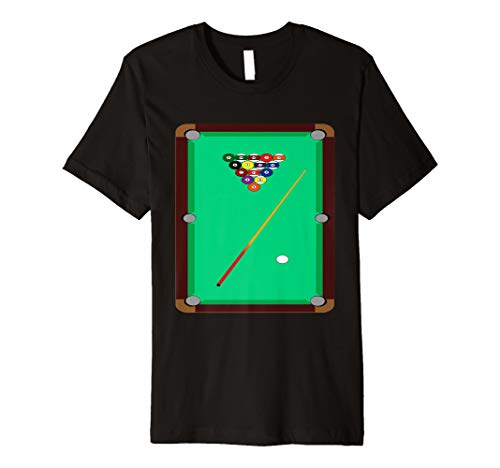 Pool Billard Tisch T-Shirt 8 Ball Queue Snooker Graphic Tee