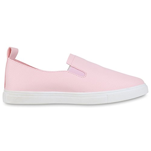 Napoli-fashion Lady Sneaker Slip-on Glitter Shoes Metallico Neon Sneakers Sneakers Mimetico Confortevole Scarpe Casual Appartamenti Jennika Rosa Bianco