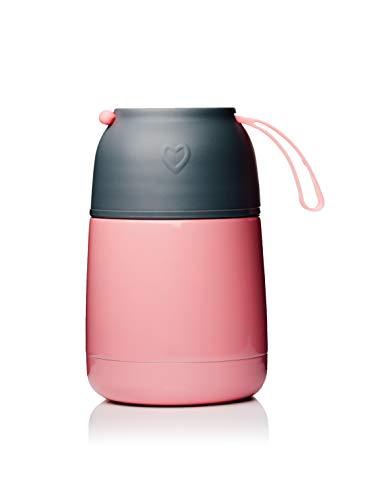 BOHORIA® Thermobehälter Lunchbox | Hochwertiger Isolierbehälter | Edelstahl | Thermo Gefäß für Babynahrung | Premium Speisebehälter | Warmhaltebox (Rosa)