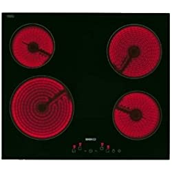 Beko HIC64401 Integrado indución eléctrica Negro hobs - Placa (Integrado, Induction hob, Vidrio y cerámica, Negro, LED, Sensor)