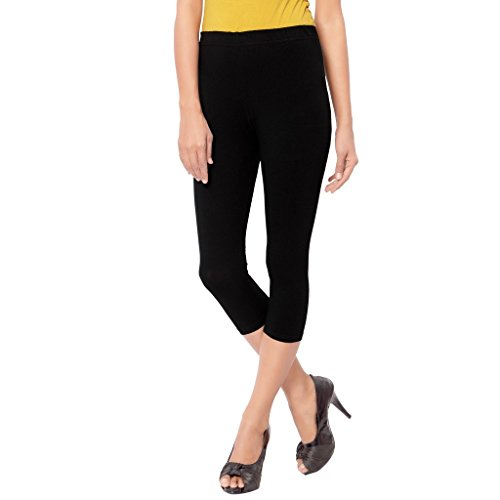 Leggings Capri Style Black For Women | 95 % Cotton and 5 % Lycra| 3/4th leggings| Free Size Comfortable Premium Quality | Ultra Soft Fabric | High Waist For Girls | Best Fits 24\'\' To 34"|500|500|?|False|682a1dcb2130aacce948d1d65e2c246f|False|UNLIKELY|0.3082009255886078