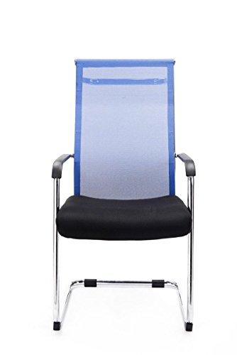 CLP Freischwinger-Stuhl mit Armlehne BRENDA, Blau - 2