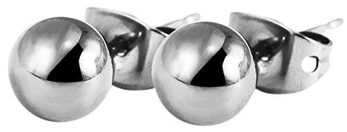 Akzent Ohrstecker aus Titan Ø 6 mm
