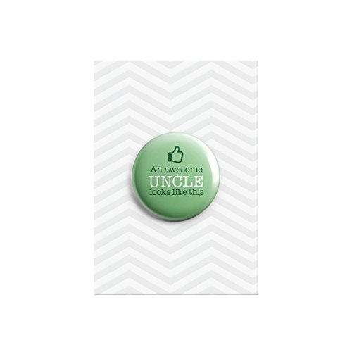 Ein Awesome Uncle Thumbs Up Baby Dusche Familie Geschenk Button Pin Badge 38mm