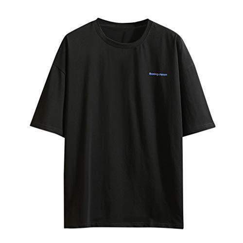 Floweworld Herren Large Size Loose T-Shirt Einfache Print Kurzarm O-Neck Tops Sommer Casual Basic Blusen Apple-print-leggings