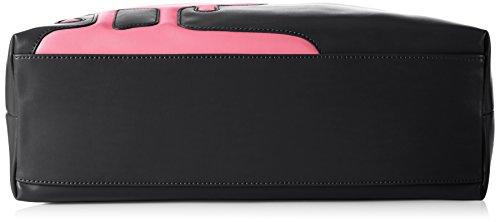 Love Moschino JC4097, Tote Femmes, 11x30x45 cm Multicolore (black/pink)