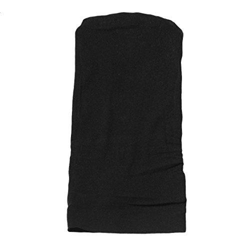 Pack 2Perücke der Kappe Dehnbare atmungsaktiv Stretch Nylon Nude Weihnachtsstrumpf Gap Schwarz