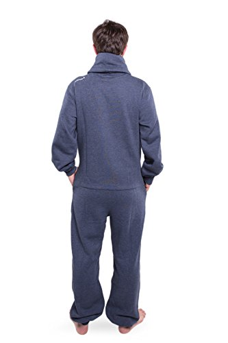 Jumpster Damen Herren Jumpsuit Turtleneck Onesie Exquisite Slim Fit Blau L - 4