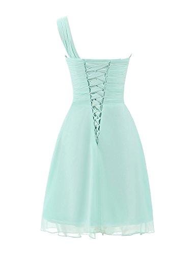 Sarahbridal Damen Mini Chiffon Ballkleid Herzenform Abendkleider Faltenrock Abschlussballkleider SSD247 Kahki