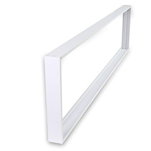 4-panel-gehäuse (Aufbaurahmen 120x30 LED Panel Aufputzrahmen Deckenrahmen für Wand- und Deckenmontage Aluminium Weiß)