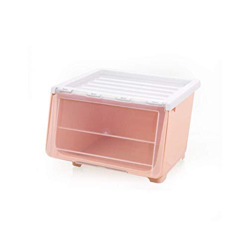 LiTing Cajón Gabinete de Almacenamiento Snacks Juguetes Sandwich Caja de Almacenamiento de múltiples Capas Acabado de plástico Transparente Estante de Almacenamiento (Color : Pink, Size : Three)