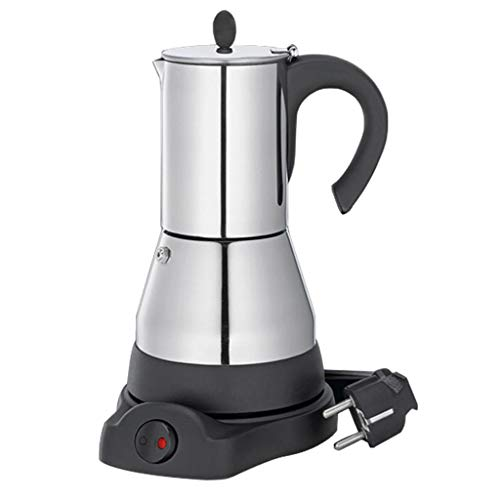 Fenteer Edelstahl Espressomaschine, Elektrische Kaffeemaschine, EU-Stecker - 4 Tasse