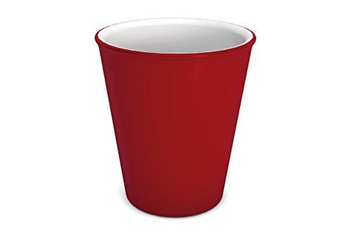 Ornamin Becher 300 ml rot | hochwertiger, stabiler Coffee to go Becher aus Kunststoff für zuhause und unterwegs| nachhaltiger Mehrwegbecher auch für Cocktail, Smootie und Heißgetränke | Ökobecher, Partybecher, Biobecher, Kaffeebecher