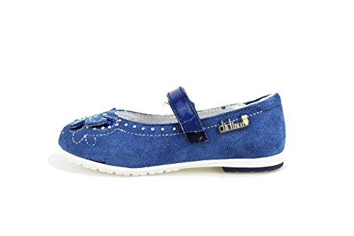 DIDI BLU ballerine bambina blu / grigio camoscio (36 EU, Blu)