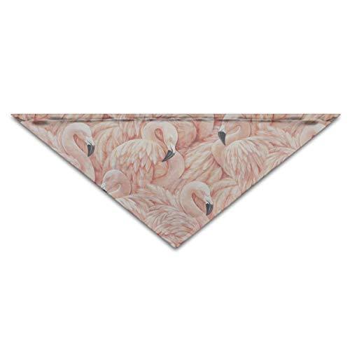 Sdltkhy Beach Flamingos Birds Dog Bandanas Scarves Triangle Bibs Scarfs Stylish Basic Dogs Neckerchief Cat Collars Pet Costume Accessory Kerchief for Large&Medium&Small Puppy