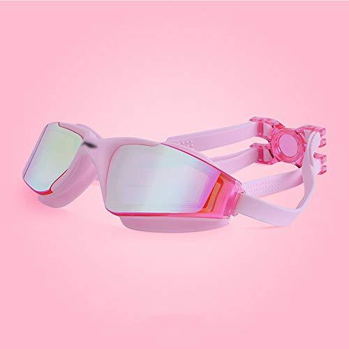 Szblk Brille Auslaufsicher Wasserdicht Anti-Fog UV-Schutz Schwimmbad Sportbrillen Und Hochauflösende Schwimmbrille Big Box Geeignet for Erwachsene Tauchausrüstung (Color : Pink)